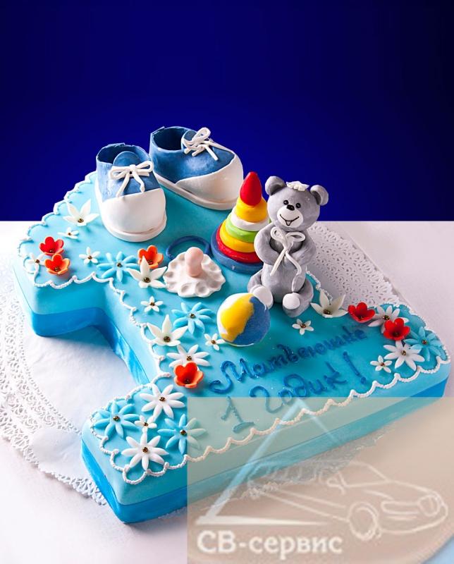 Торт для ребенка 1 год фото