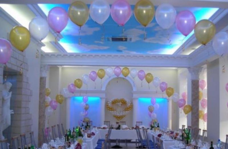 Оформление банкетного зала на свадьбу - цена украшения и фото